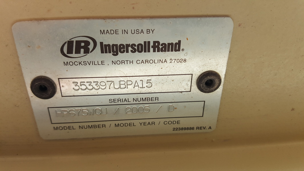 Ingersoll Rand HP675 WCU