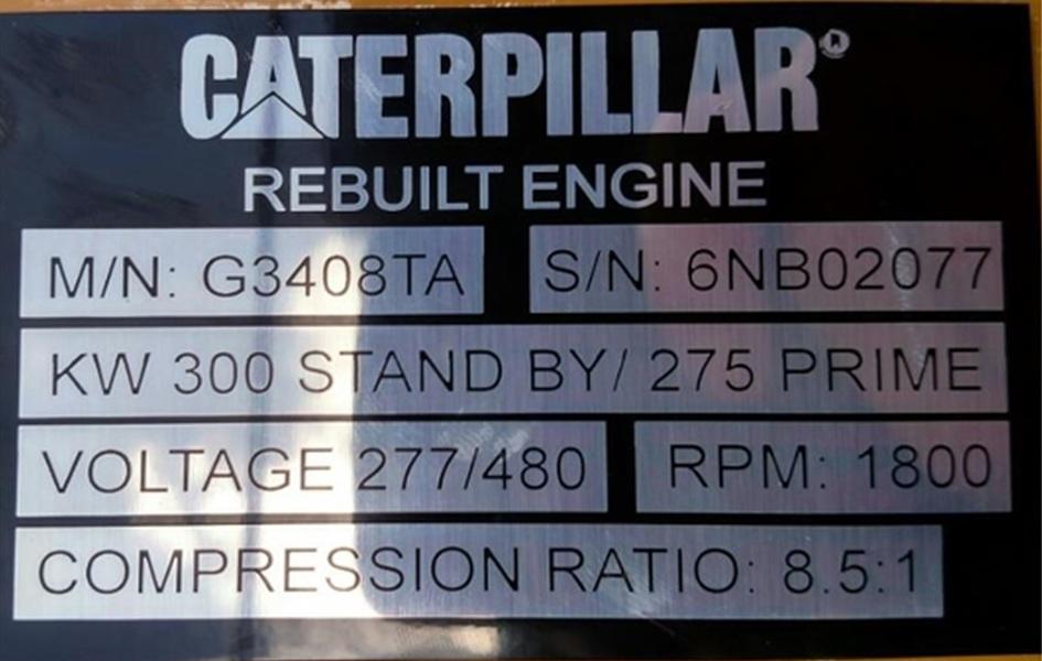 Used CATERPILLAR G3408TA Gas Engine