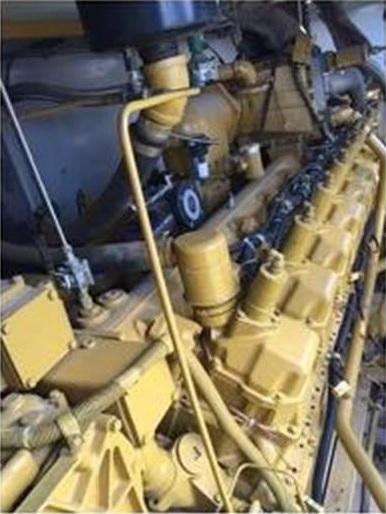Used CATERPILLAR 800KW G3516SITA Natural Gas Generator