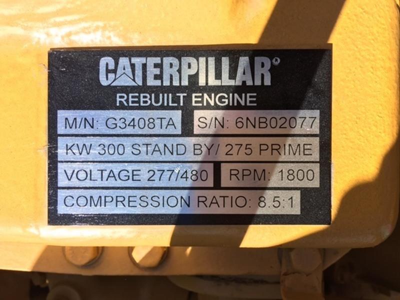 Used CATERPILLAR G3408TA Natural Gas Generator