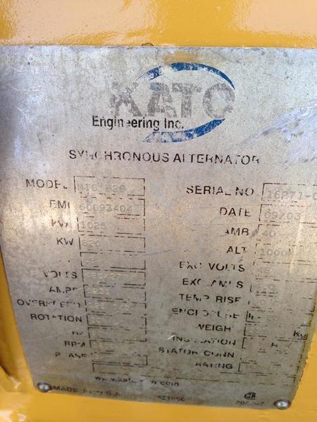 Reman Kato 800KW Generator End