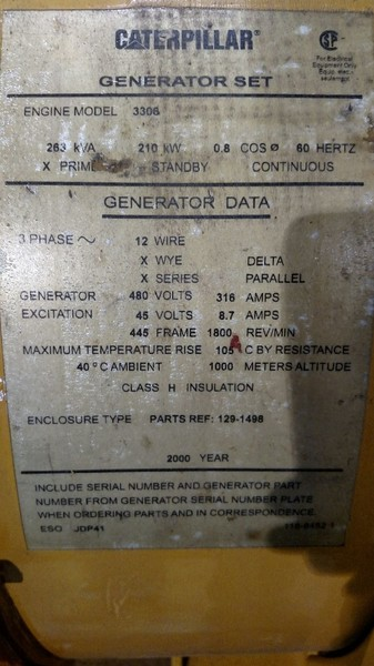 Caterpillar SR4 Generator End
