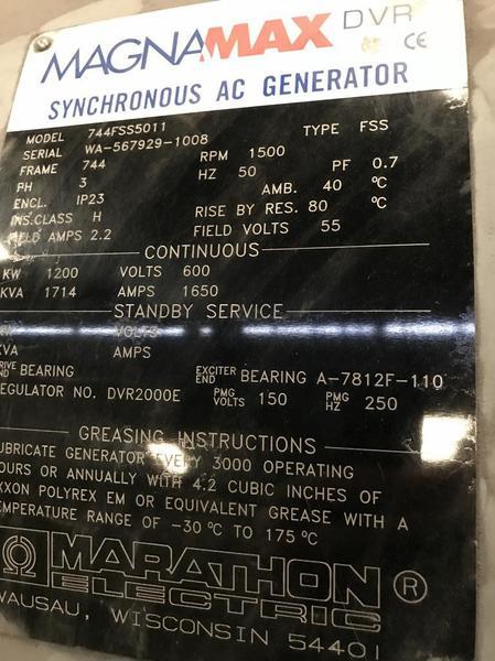 New Surplus Marathon 744FSS5011 Generator End